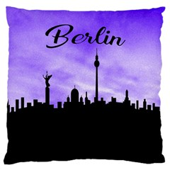 Berlin Large Cushion Case (one Side) by Valentinaart