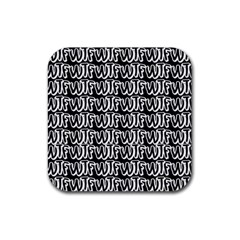 Wtf Rubber Square Coaster (4 Pack)  by Valentinaart