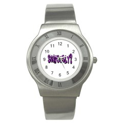 Seriously Stainless Steel Watch by Valentinaart