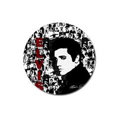 Elvis Presley Magnet 3  (round) by Valentinaart