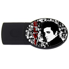 Elvis Presley Usb Flash Drive Oval (4 Gb) by Valentinaart