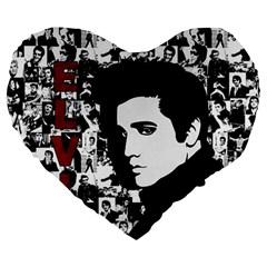 Elvis Presley Large 19  Premium Heart Shape Cushions by Valentinaart