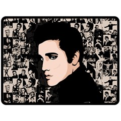 Elvis Presley Double Sided Fleece Blanket (large)  by Valentinaart