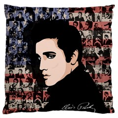 Elvis Presley Large Flano Cushion Case (two Sides) by Valentinaart