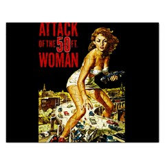 Attack Of The 50 Ft Woman Rectangular Jigsaw Puzzl by Valentinaart