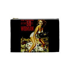 Attack Of The 50 Ft Woman Cosmetic Bag (medium)  by Valentinaart
