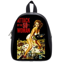Attack Of The 50 Ft Woman School Bags (small)  by Valentinaart