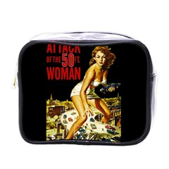 Attack Of The 50 Ft Woman Mini Toiletries Bags by Valentinaart