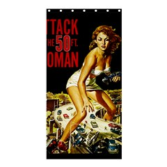 Attack Of The 50 Ft Woman Shower Curtain 36  X 72  (stall)  by Valentinaart
