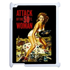 Attack Of The 50 Ft Woman Apple Ipad 2 Case (white) by Valentinaart