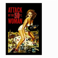 Attack Of The 50 Ft Woman Small Garden Flag (two Sides) by Valentinaart