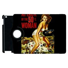 Attack Of The 50 Ft Woman Apple Ipad 3/4 Flip 360 Case by Valentinaart