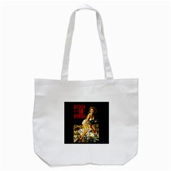 Attack Of The 50 Ft Woman Tote Bag (white) by Valentinaart
