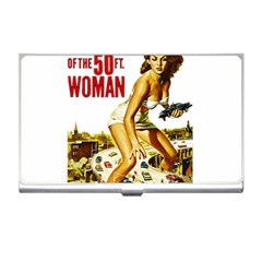 Attack Of The 50 Ft Woman Business Card Holders by Valentinaart
