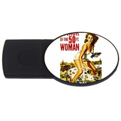 Attack Of The 50 Ft Woman Usb Flash Drive Oval (2 Gb)