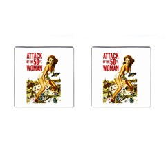 Attack Of The 50 Ft Woman Cufflinks (square) by Valentinaart