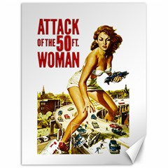 Attack Of The 50 Ft Woman Canvas 12  X 16   by Valentinaart