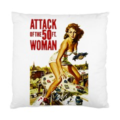 Attack Of The 50 Ft Woman Standard Cushion Case (one Side) by Valentinaart