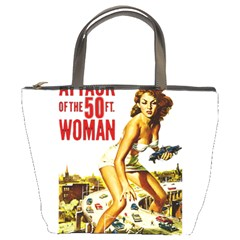Attack Of The 50 Ft Woman Bucket Bags by Valentinaart