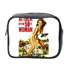 Attack Of The 50 Ft Woman Mini Toiletries Bag 2 Side by Valentinaart