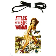 Attack Of The 50 Ft Woman Shoulder Sling Bags by Valentinaart
