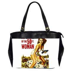 Attack Of The 50 Ft Woman Office Handbags (2 Sides)  by Valentinaart