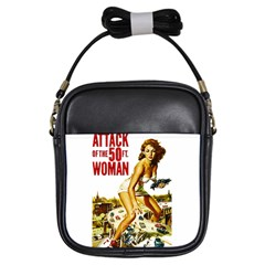 Attack Of The 50 Ft Woman Girls Sling Bags by Valentinaart