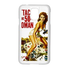 Attack Of The 50 Ft Woman Samsung Galaxy S5 Case (white) by Valentinaart