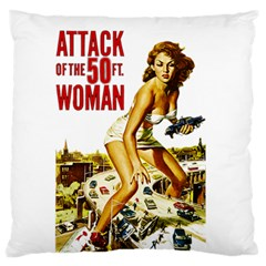 Attack Of The 50 Ft Woman Large Flano Cushion Case (two Sides) by Valentinaart