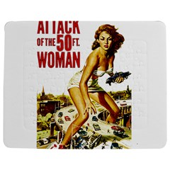 Attack Of The 50 Ft Woman Jigsaw Puzzle Photo Stand (rectangular) by Valentinaart