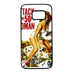 Attack Of The 50 Ft Woman Samsung Galaxy S7 Black Seamless Case by Valentinaart