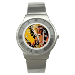 White Eagle Stainless Steel Watch by Valentinaart