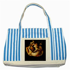 Carmen Striped Blue Tote Bag by Valentinaart