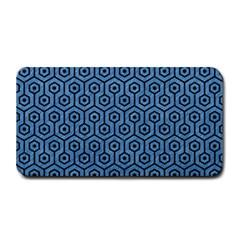 Hexagon1 Black Marble & Blue Colored Pencil (r) Medium Bar Mat by trendistuff