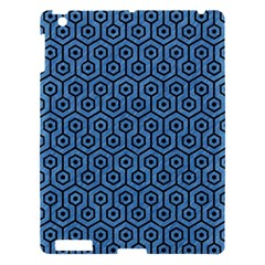 Hexagon1 Black Marble & Blue Colored Pencil (r) Apple Ipad 3/4 Hardshell Case by trendistuff