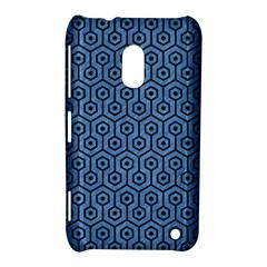 Hexagon1 Black Marble & Blue Colored Pencil (r) Nokia Lumia 620 Hardshell Case by trendistuff
