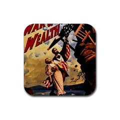 The War Of Wealth Rubber Square Coaster (4 Pack)  by Valentinaart