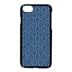Hexagon1 Black Marble & Blue Colored Pencil (r) Apple Iphone 7 Seamless Case (black) by trendistuff