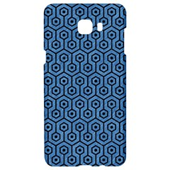 Hexagon1 Black Marble & Blue Colored Pencil (r) Samsung C9 Pro Hardshell Case  by trendistuff