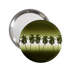 Tropical Sunset 2 25  Handbag Mirrors by Valentinaart
