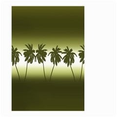 Tropical Sunset Small Garden Flag (two Sides) by Valentinaart