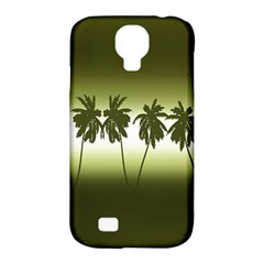 Tropical Sunset Samsung Galaxy S4 Classic Hardshell Case (pc+silicone) by Valentinaart