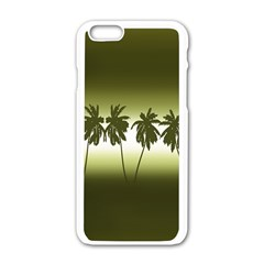 Tropical Sunset Apple Iphone 6/6s White Enamel Case by Valentinaart
