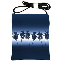 Tropical Sunset Shoulder Sling Bags by Valentinaart