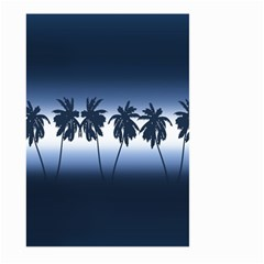 Tropical Sunset Large Garden Flag (two Sides) by Valentinaart