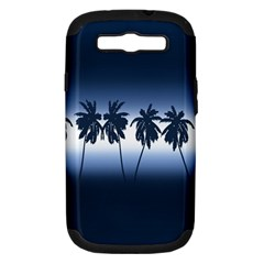 Tropical Sunset Samsung Galaxy S Iii Hardshell Case (pc+silicone) by Valentinaart