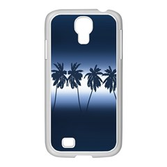 Tropical Sunset Samsung Galaxy S4 I9500/ I9505 Case (white) by Valentinaart