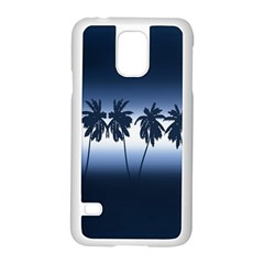 Tropical Sunset Samsung Galaxy S5 Case (white) by Valentinaart