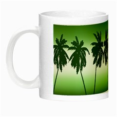 Tropical Sunset Night Luminous Mugs by Valentinaart