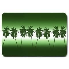 Tropical Sunset Large Doormat  by Valentinaart